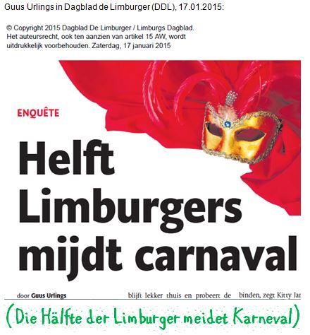 Limburger meiden Karneval