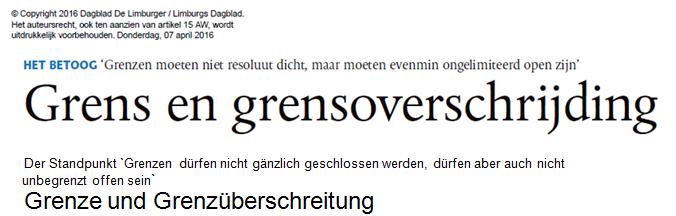 ddl grenze grenzueberschreitung - Grenzen um Limburg