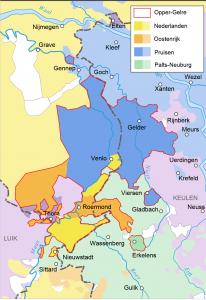 Karte: Aufteilung Ober-Geldern