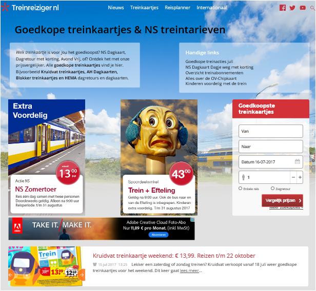 homepage treinreiziger - Bus & Chips