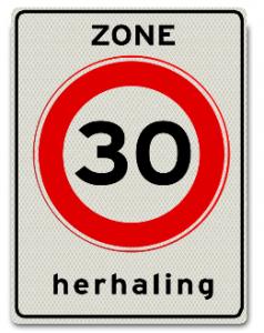 Verkehrsschild: Tempobegrenzung