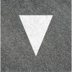 Verkehrszeichen: Haifischzahn